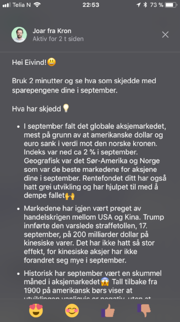 Sparerobot Kron Fondsrådgiver Nordnet Kron Indeks Nordea Nora DNB Spare