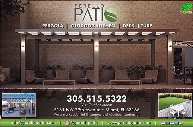 Regrann from @resourcelivingmagazines -  At @PerelloPatio they specialize in innovative and trendy custom pergolas, trellis, gazebos, outdoor kitchen designs, synthetic grass, innovate horizontal fences with ivy and boxwood and more! → They also offer pergolas, decks, pavers, artificial grass, fire and water features! ———————————————————————— Investing a little in your home is actually investing a lot in yourself → Your home should be your comfort zone! We have hundreds of #LOCAL home improvement providers ready to help you update your space! All of the #RESOURCES you need to get your project done on budget and on time! Follow us to get #specialoffers or click the link in our bio to get started! ———————————————————————— #ResourceLivingMagazines 💡 #UpdateYourSpace - #regrann