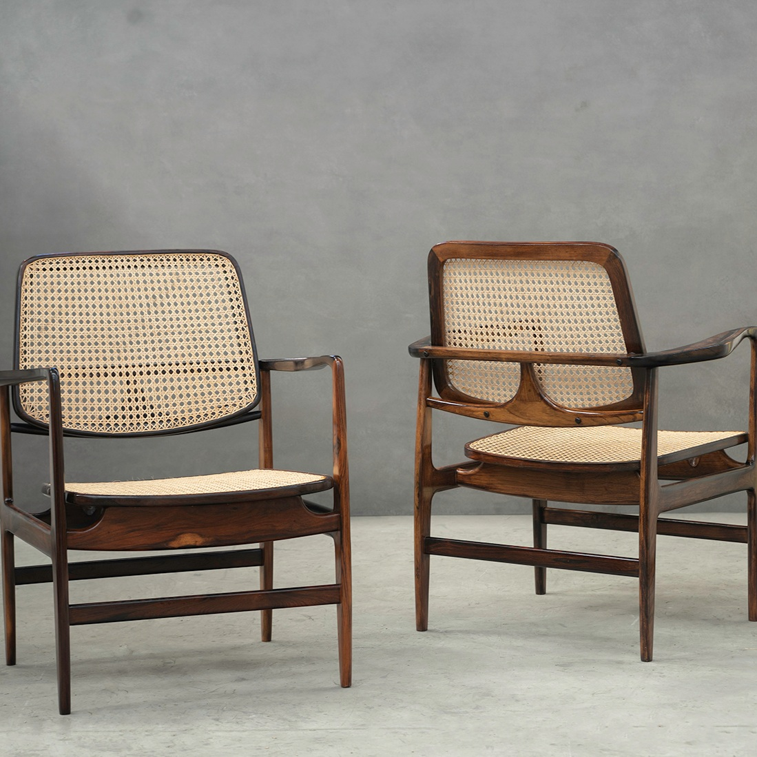 oscar armchairs | sergio rodrigues -