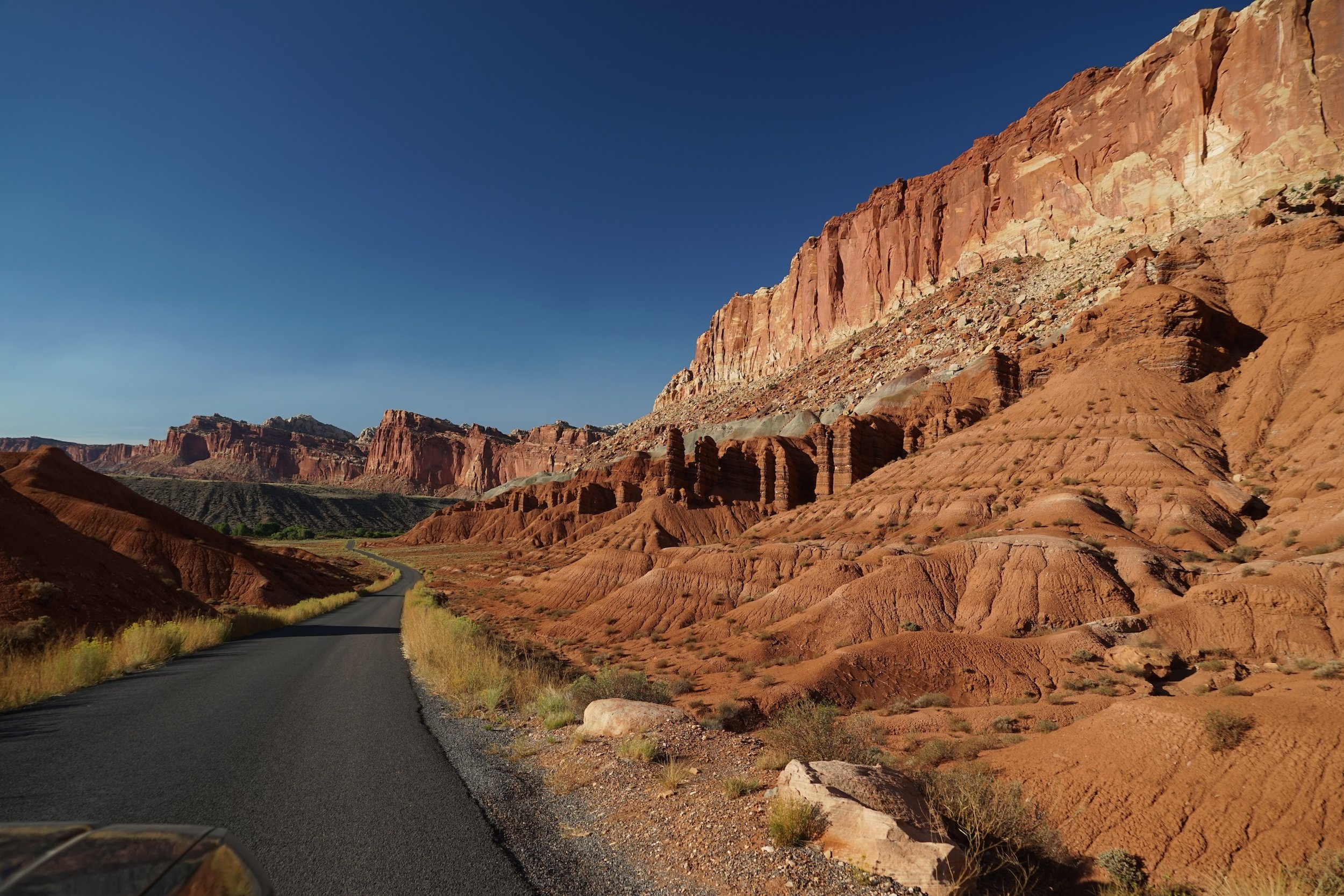 The Scenic Drive in Capitol Reef National Park
