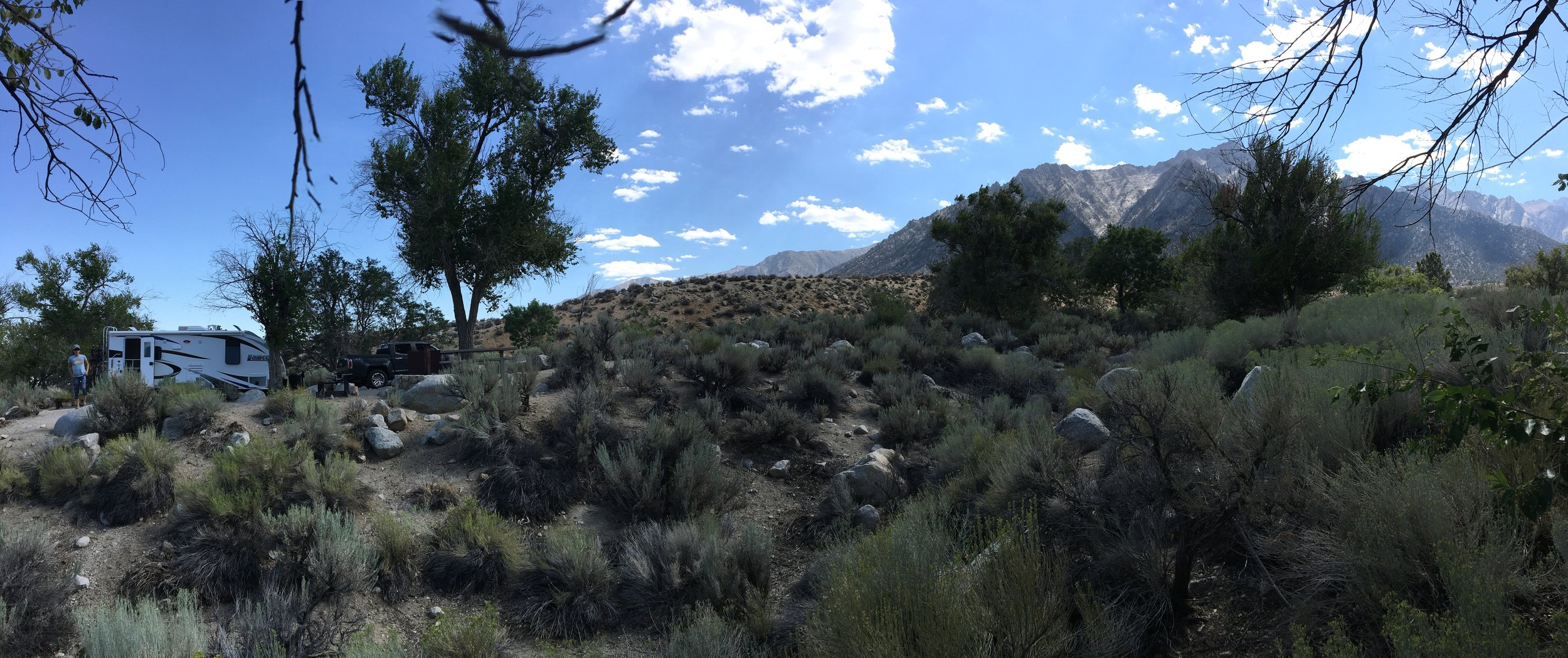 Camping at  Lone Pine Campground
