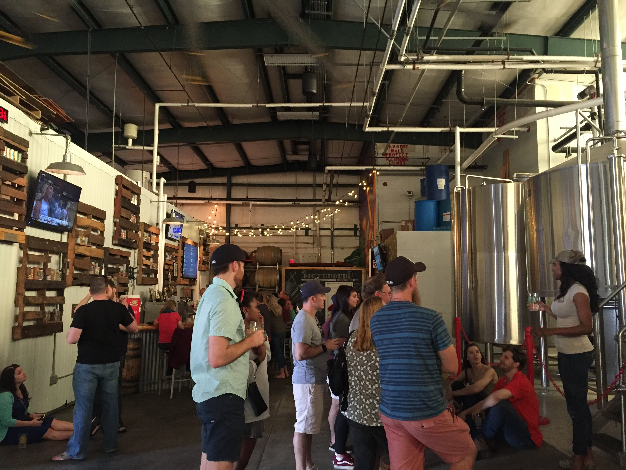 Taking a tour at Southbound BrewCo