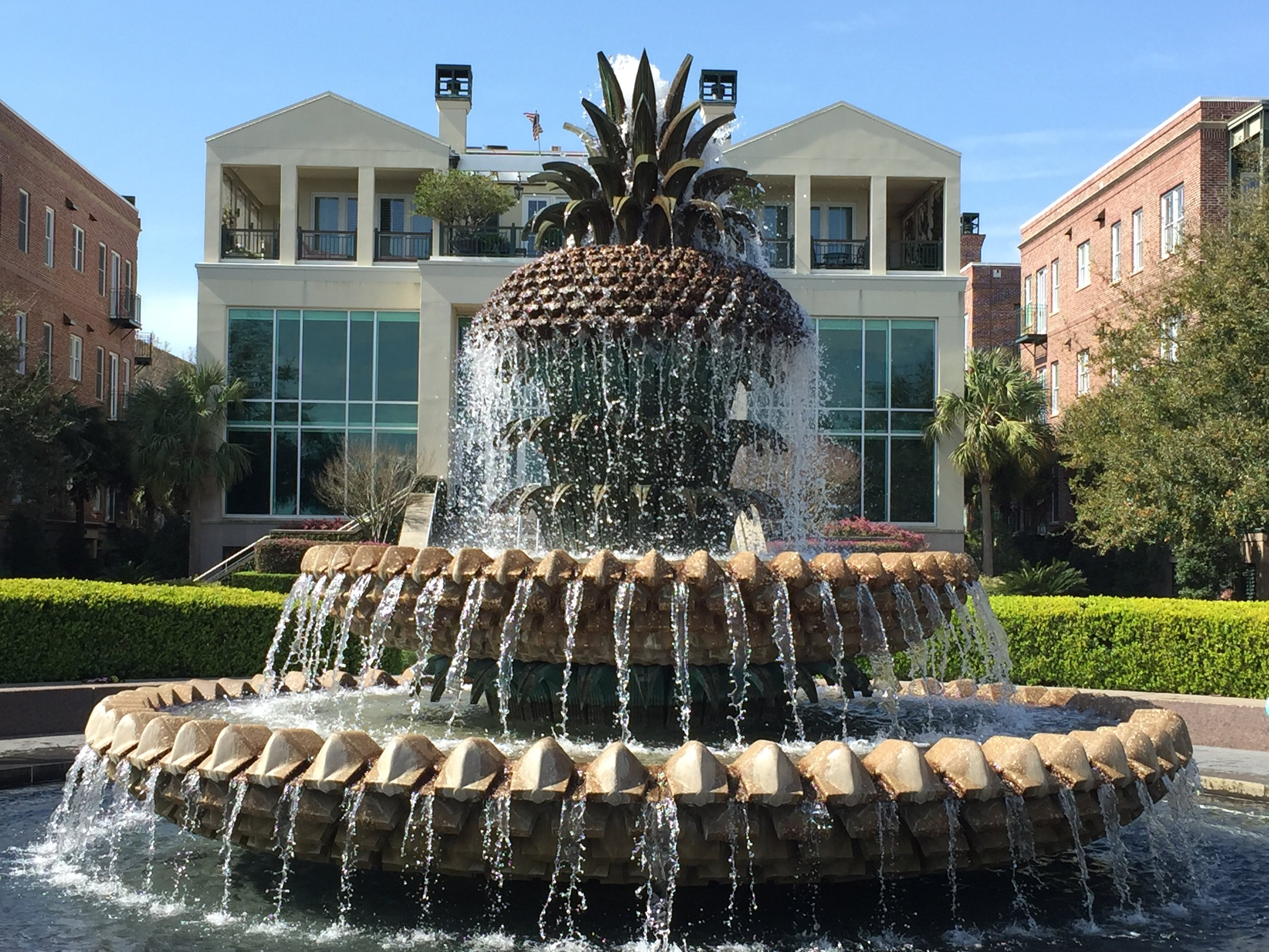 Pineapple Fountain  in Charleston's Waterfront Park