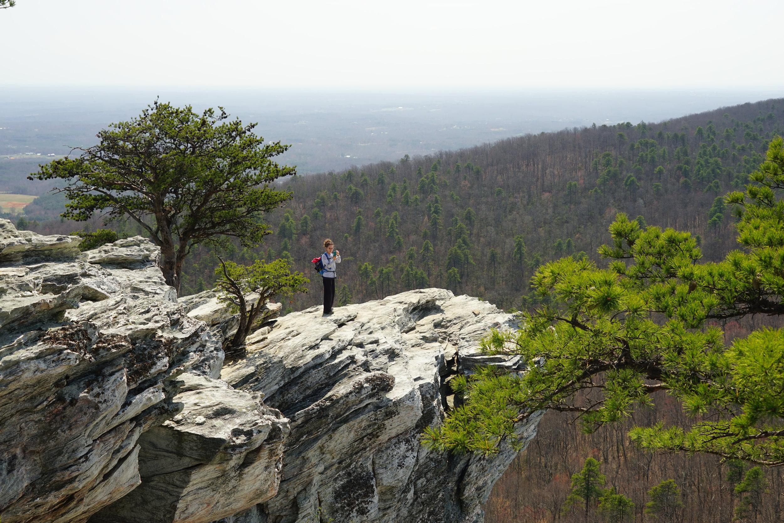 Hiking at Hanging Rock State Park