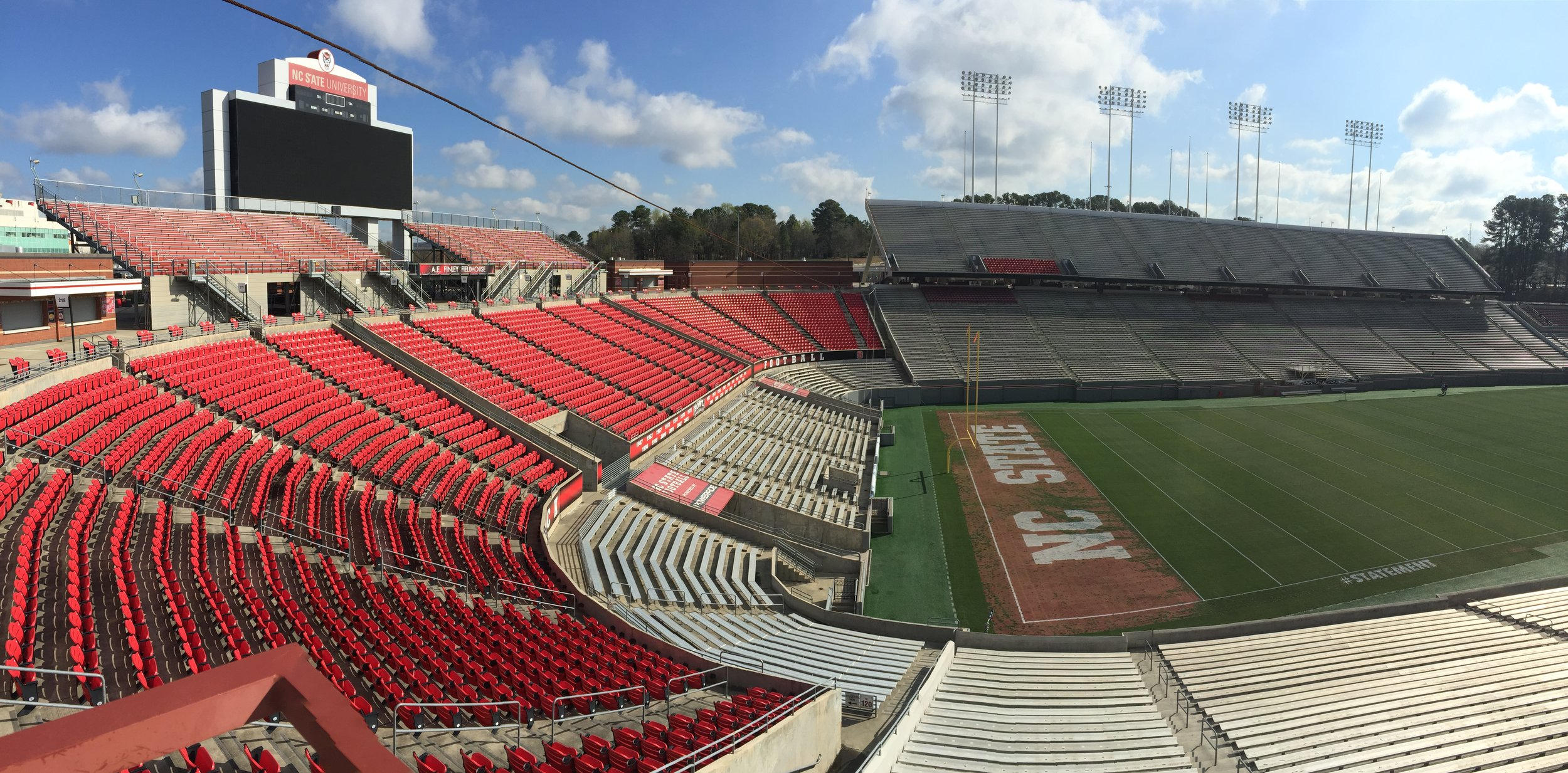 NC State Football Stadium across the street from the Fairgournds