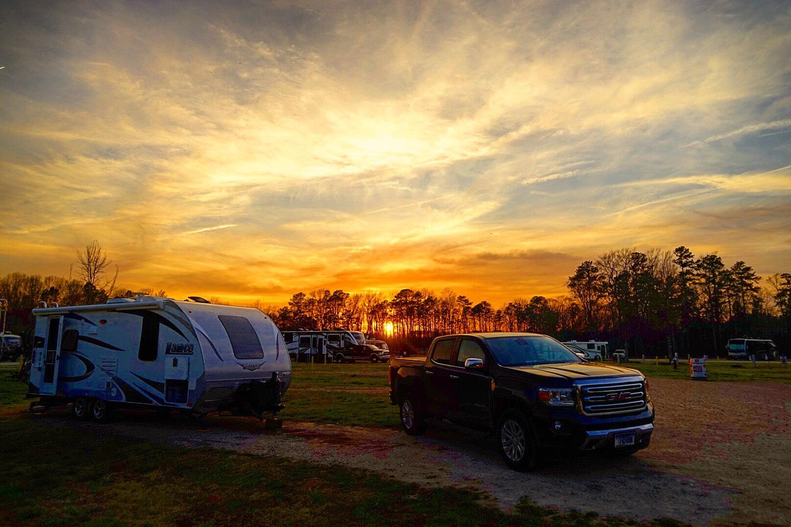 Sunset at the NC Fairgrounds