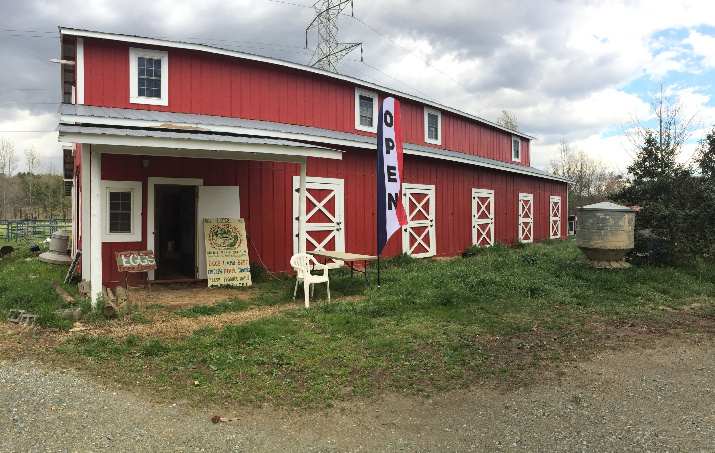 Fickle Creek Farm open during slect hours on Wed, Fri and Sat