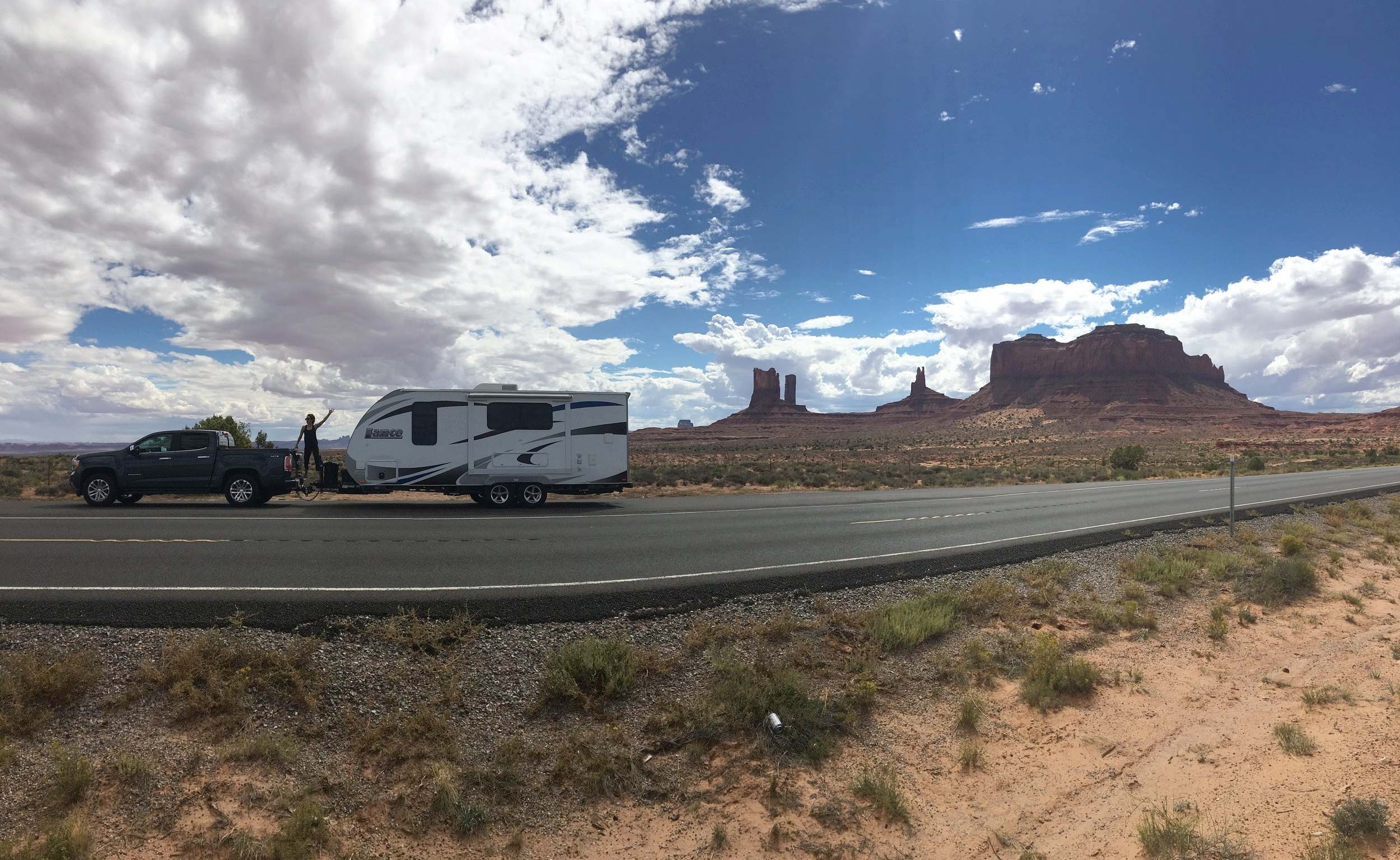 Highway 163, Monument Valley outside of  Page, Utah
