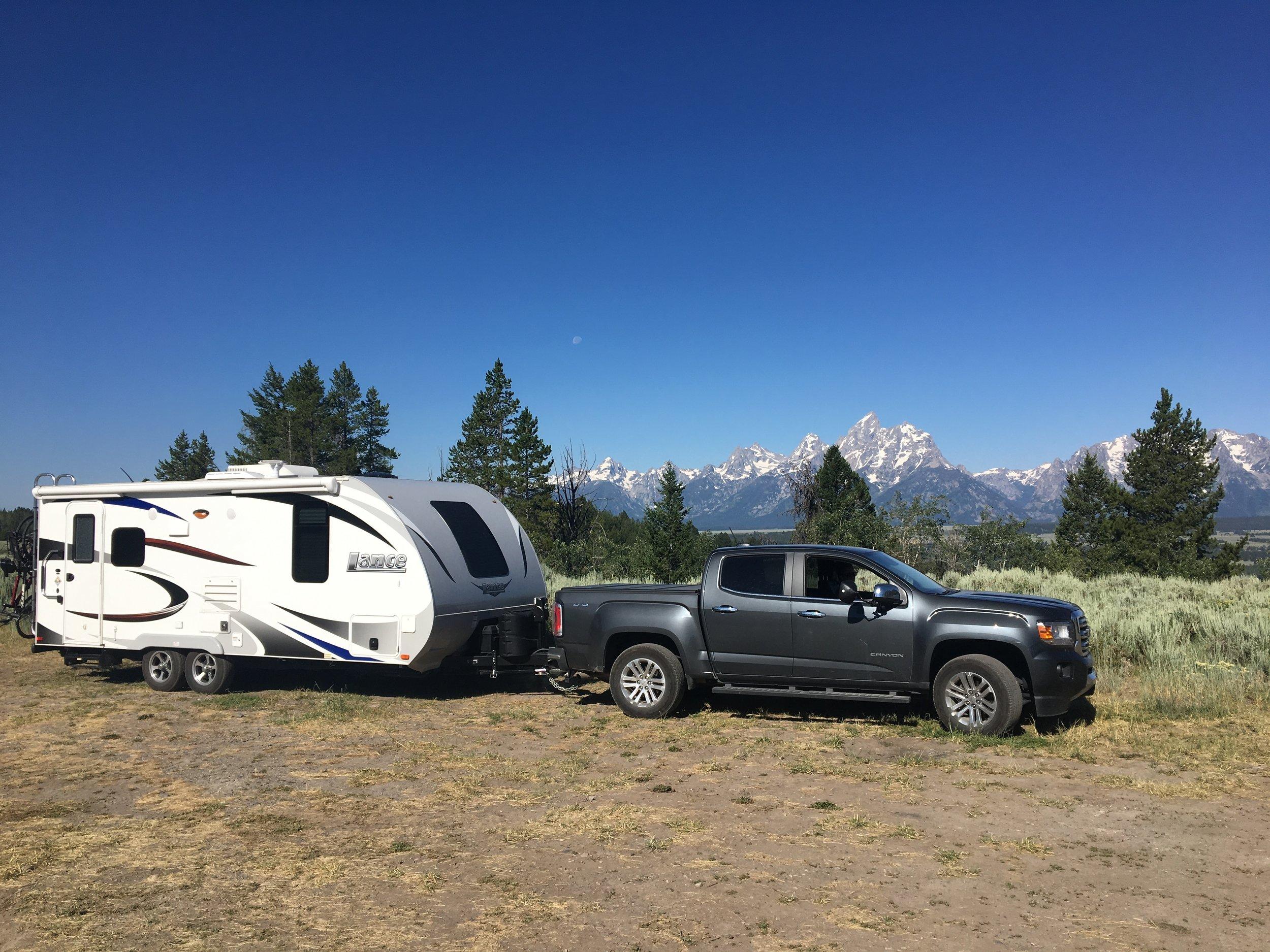 Upper View Campground, Grand Teton