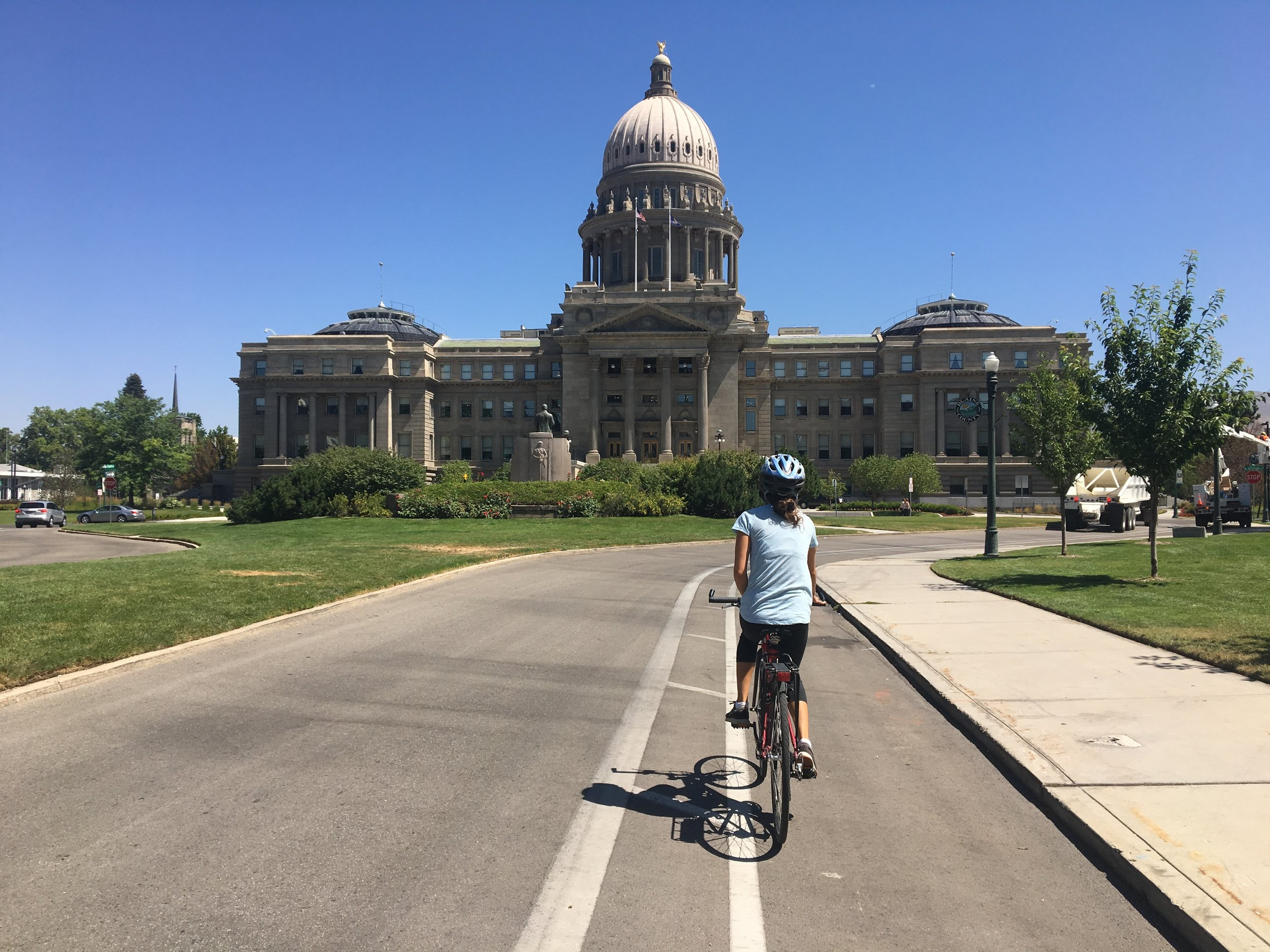 Biking to the Capitol Building