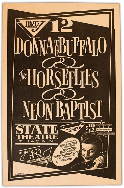 Poster from the benefit show at the State Theater in 1990 that inspired the creation of the GrassRoots Festival the following year.
