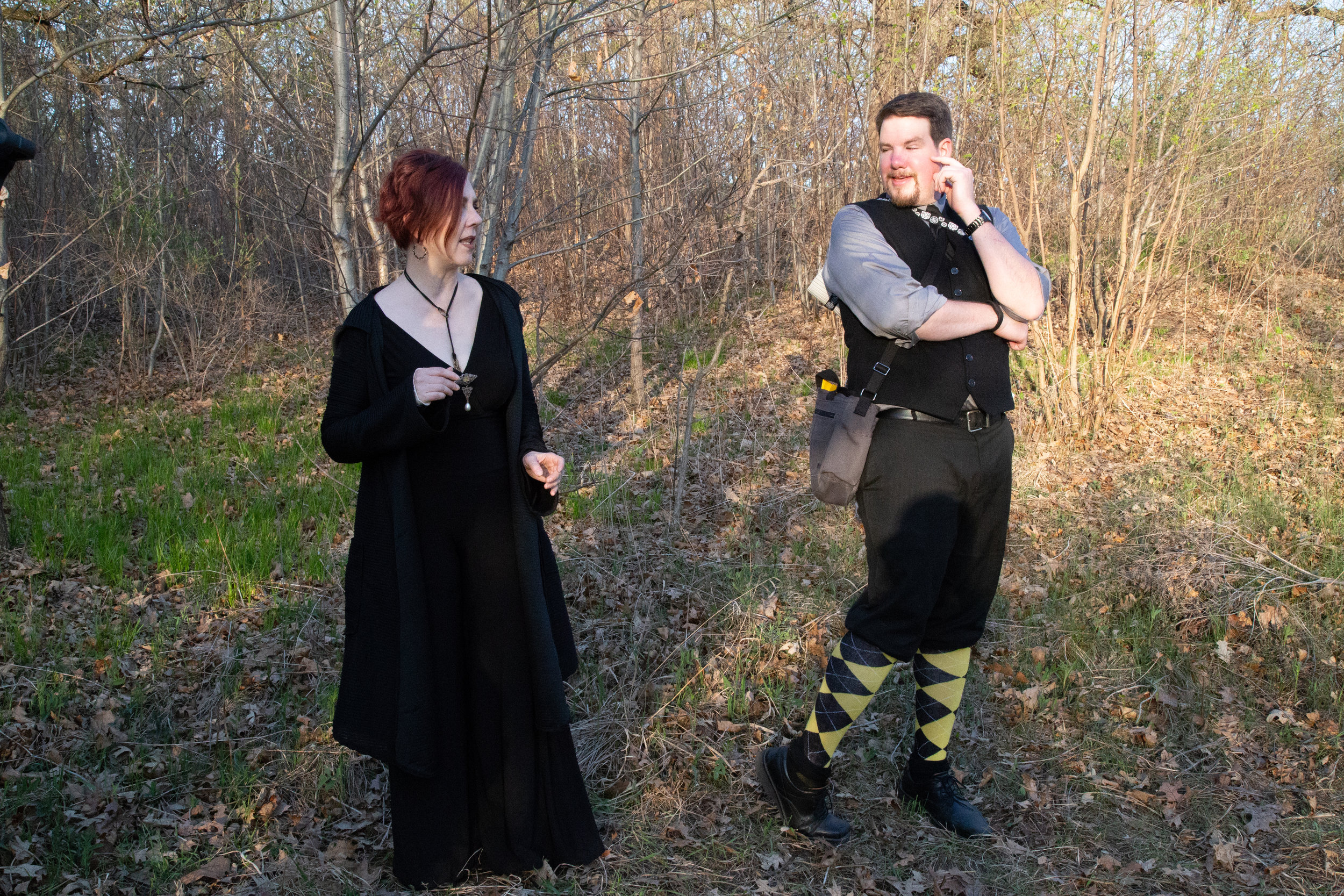 Olivia (Kelli Tatum) shocked by the behavior and fashion choices of Malvolio (Tom Sorenson)