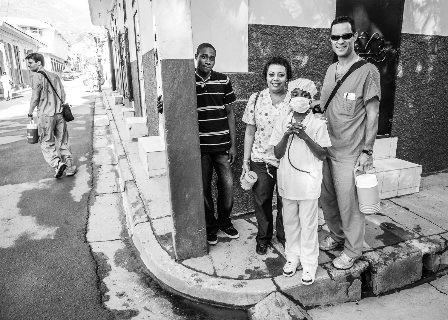 After quickly stowing our personal belongings, we set off on foot through the streets of Cap Haitien to the hospital a couple of miles away from our hotel.
