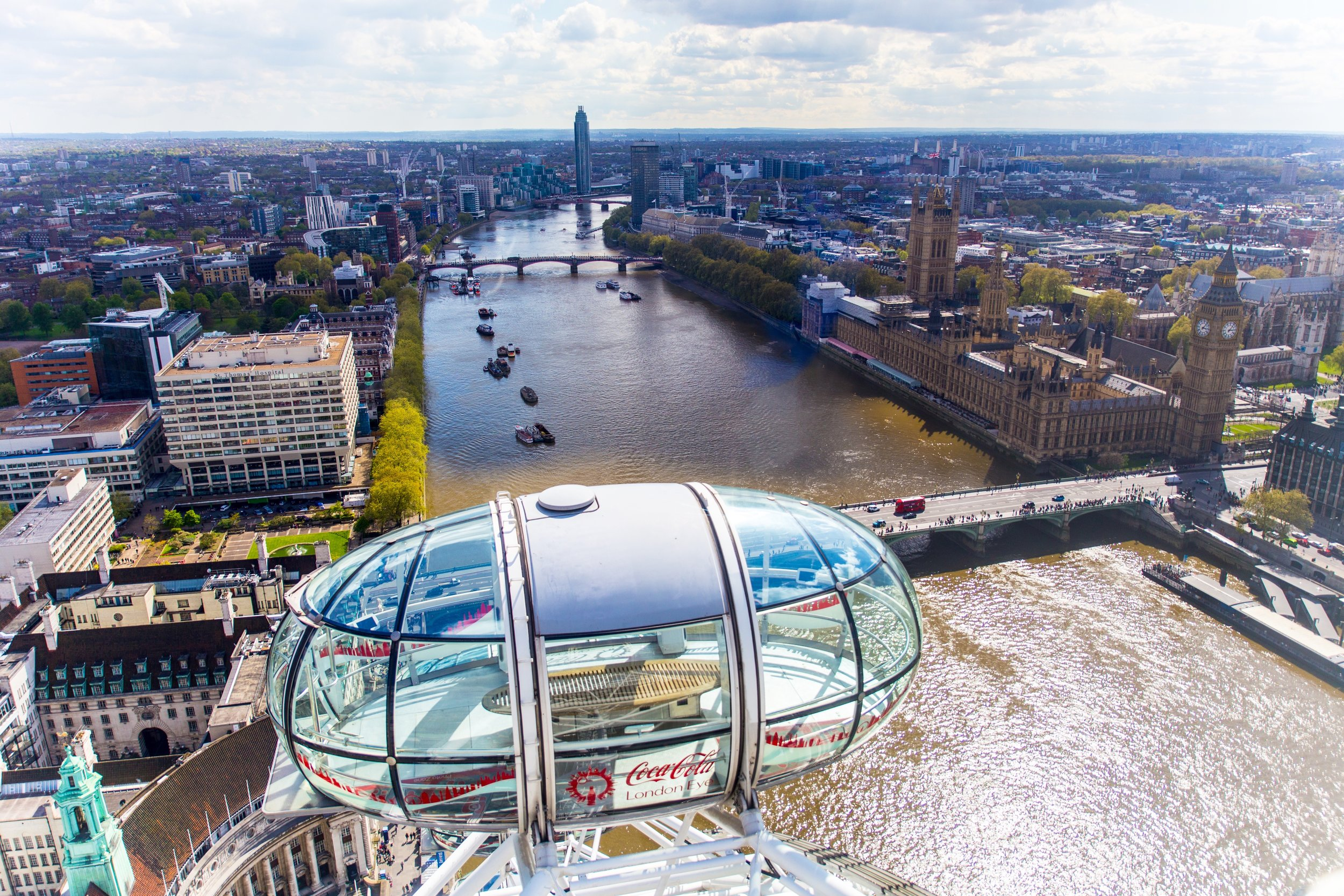 View from the London Eye, England