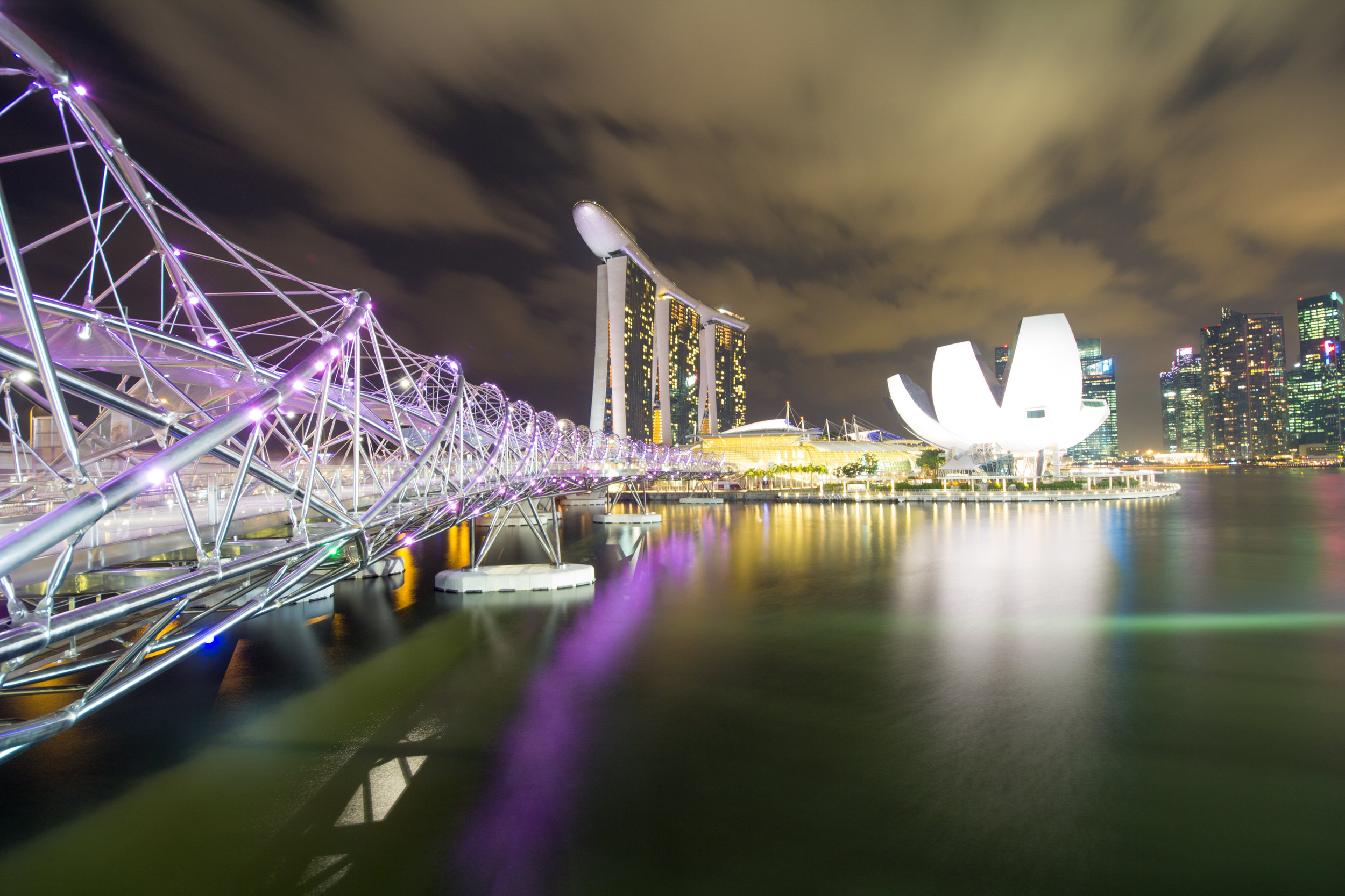 The Helix Bridge, Mariana Bay, Singapore