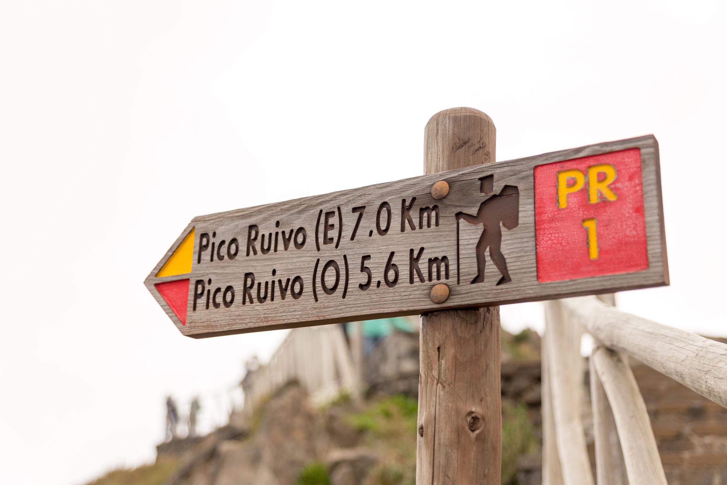 Start of the Pico Ruivo hike, Madeira