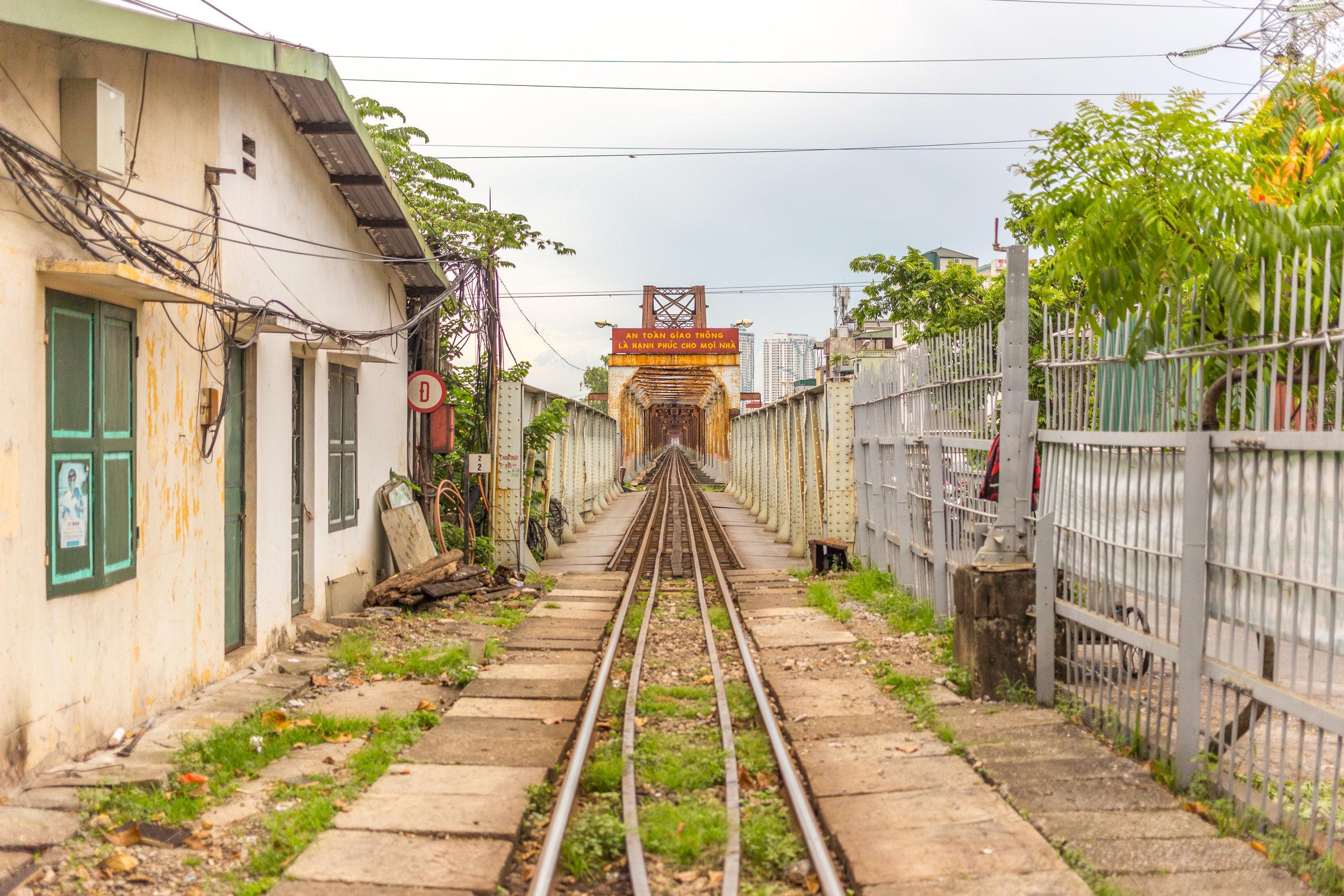 Train station in Hanoi, Vietnam