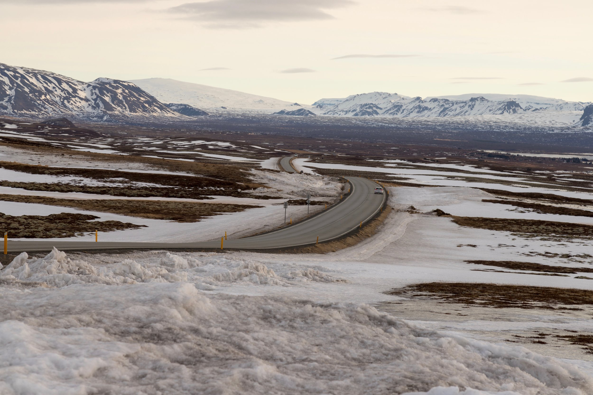 Driving is easy with views like this in Iceland