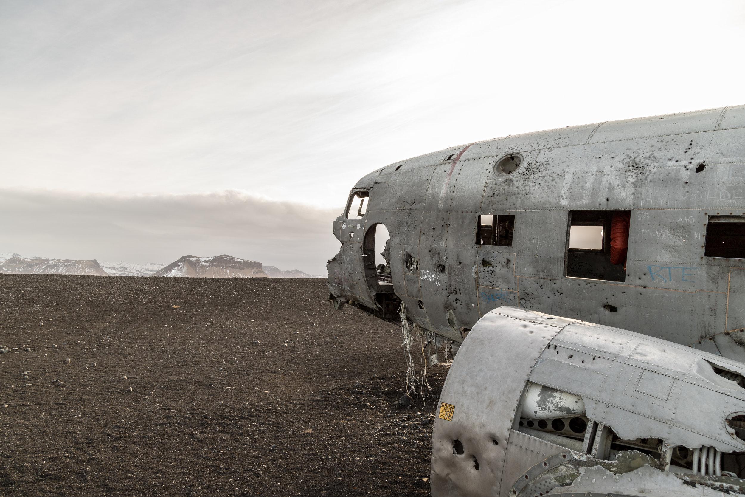 The DC-3 plane on Sólheimasandur Beach, Iceland