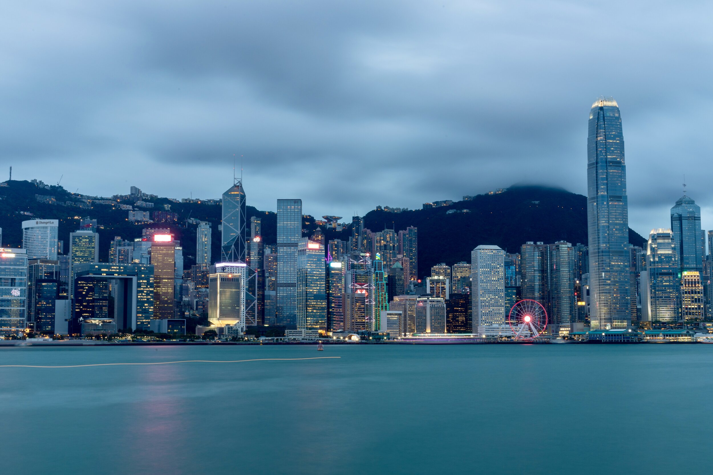 Hong Kong's City Skyline