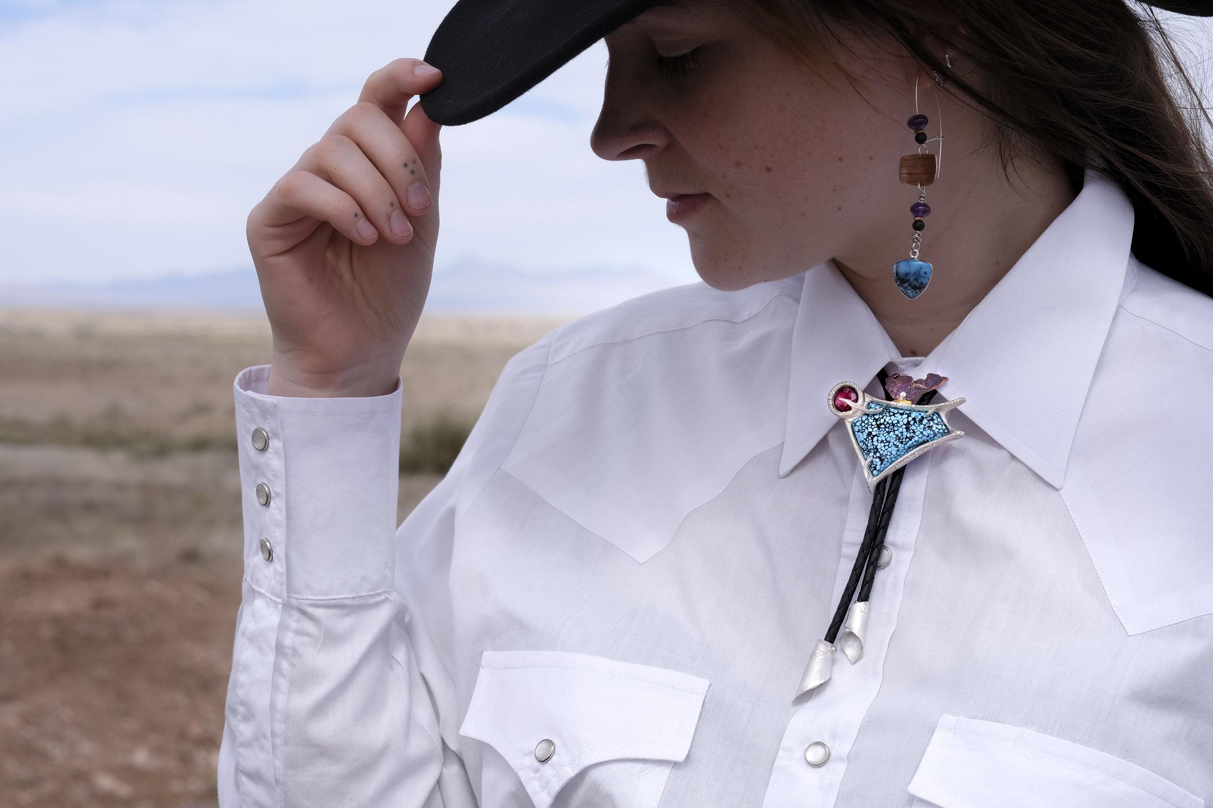 Yarrow in Neo western Bolo tie