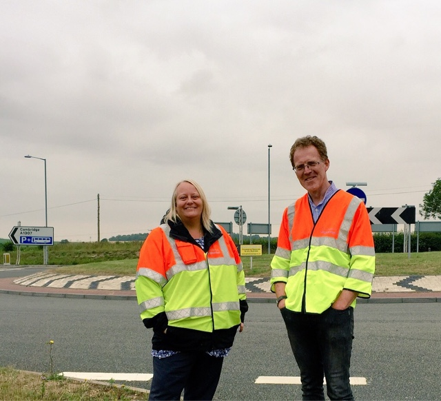 "The ""spinning roundabout"" on the A1307 - fixed by resurfacing and better signage"