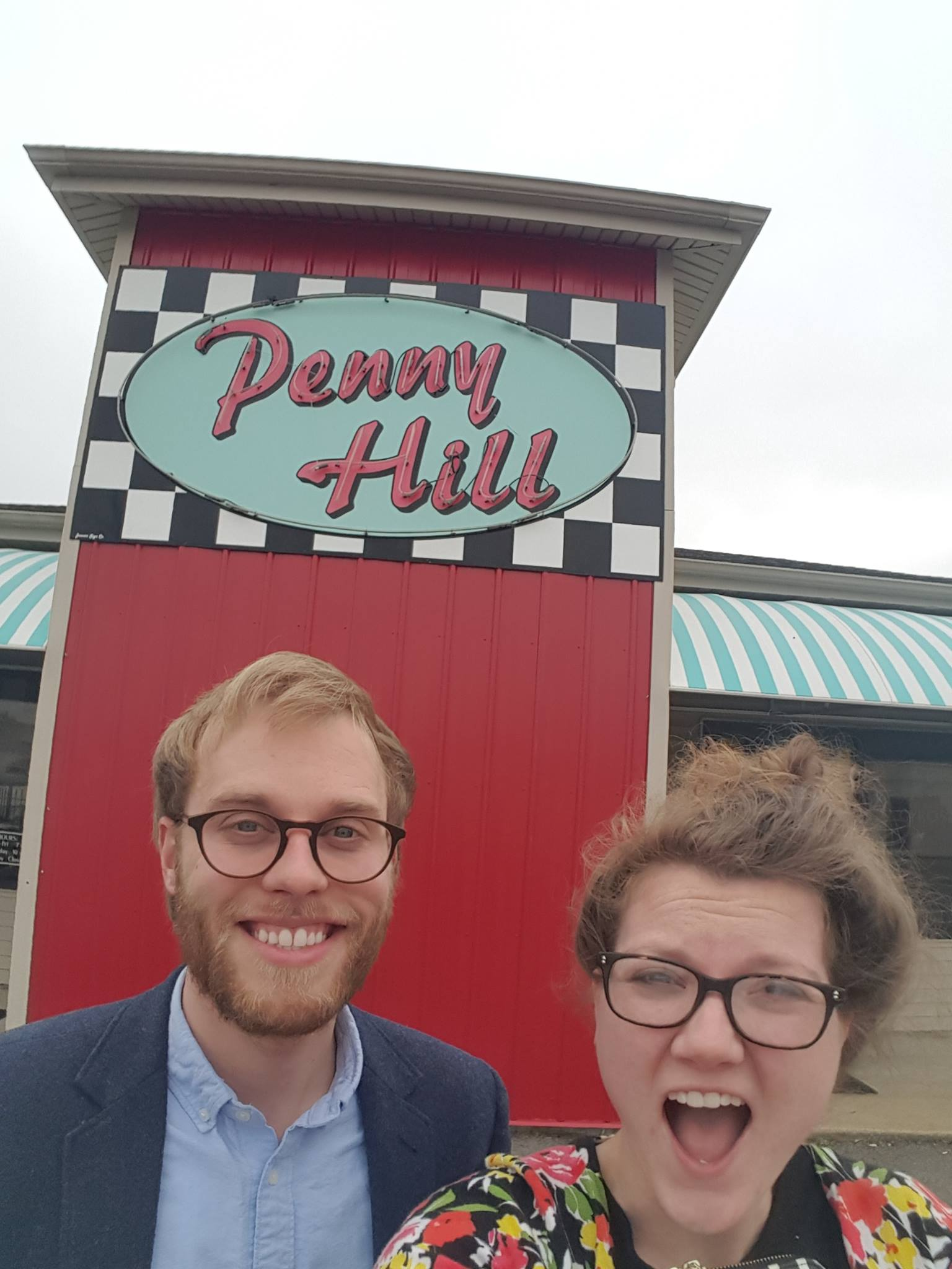 After my dentist appointment at  Sullivan Dentistry , John and I had just had a DELICIOUS lunch at  Penny Hill  in Union City. Gyros and sweet potato fries are the way to go!
