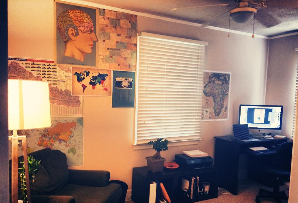 """My spare bedroom started off as our Letters in Motion office...It is currently our guest bedroom / """"laundry room"""""""