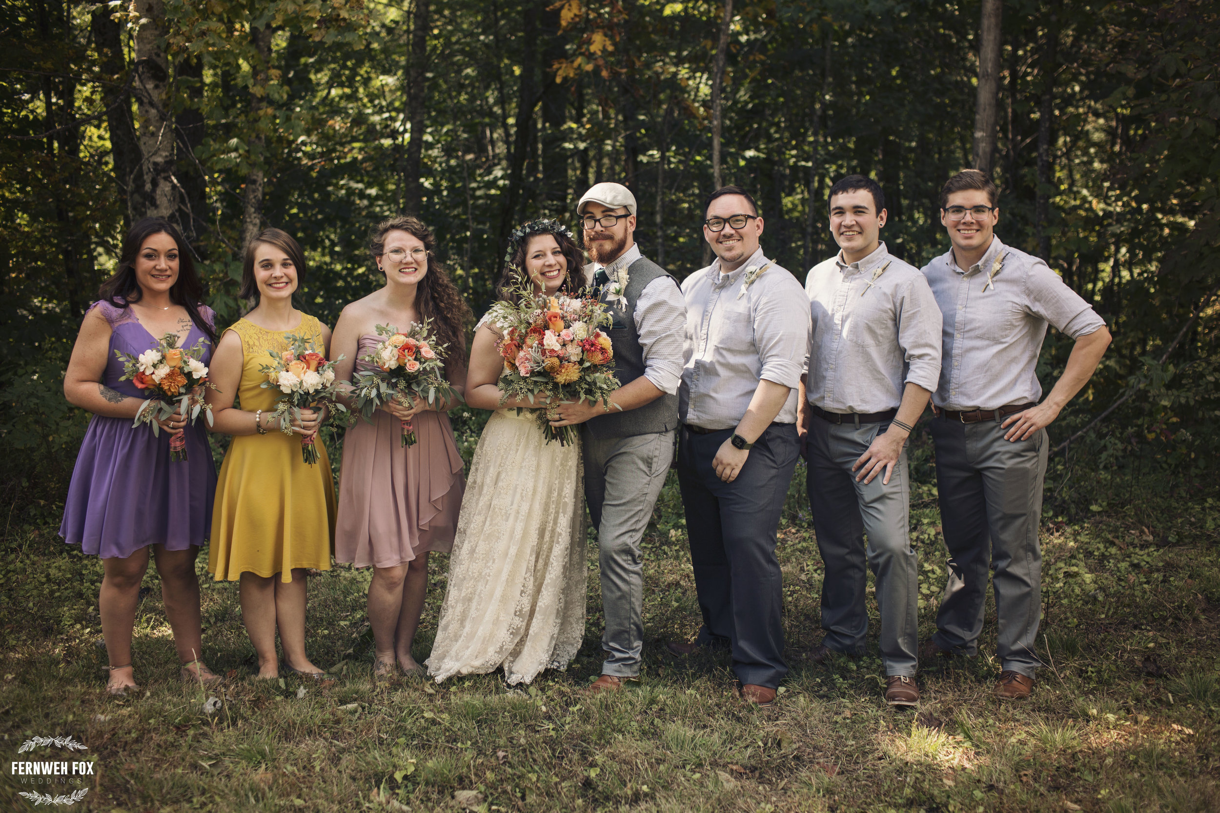 What a fabulous group of people to celebrate this wedding with! Patrick had his three brothers by his side. Emily had her new sister and two childhood friends. Talk about perfection.