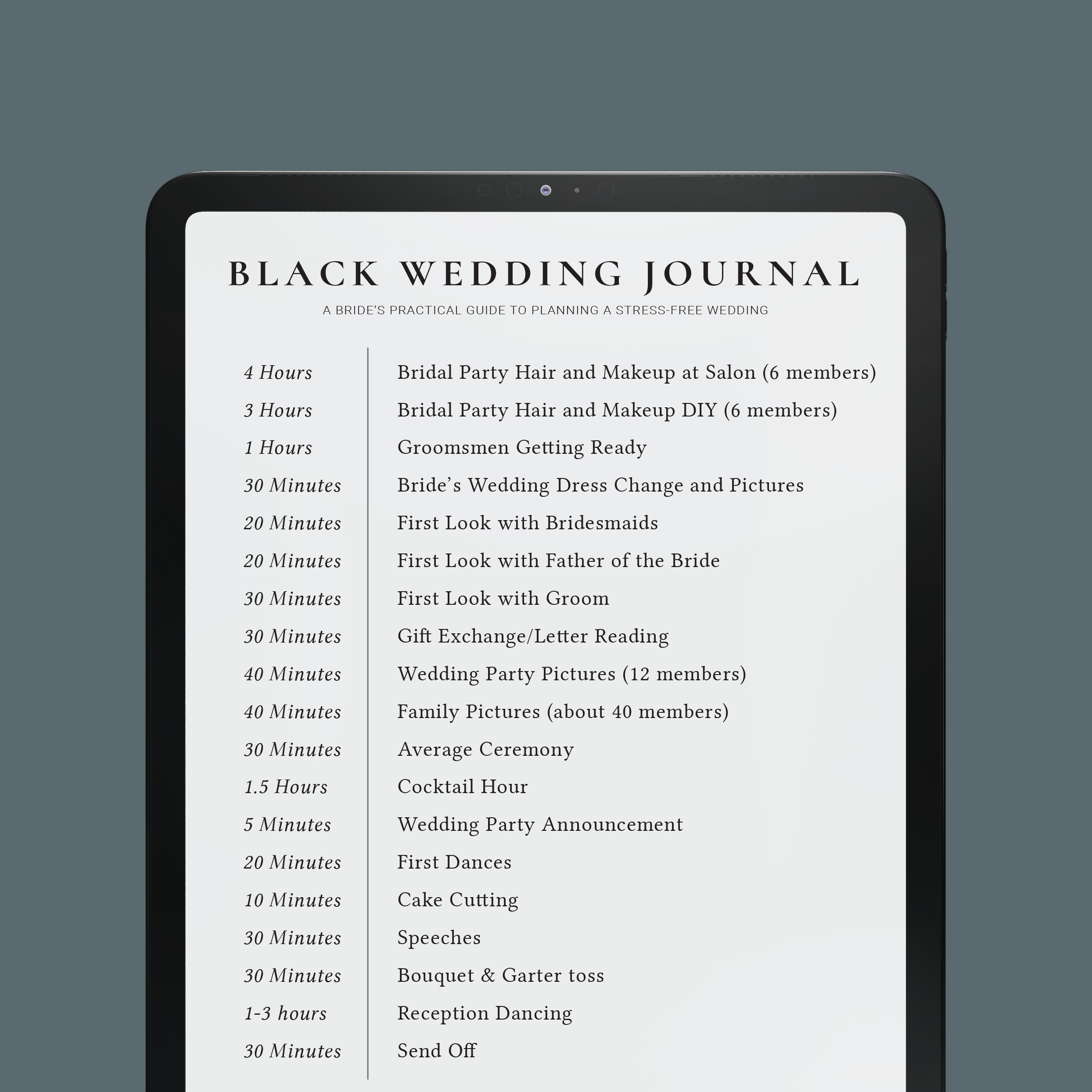 Guide to Build a perfect wedding timeline - $0.00