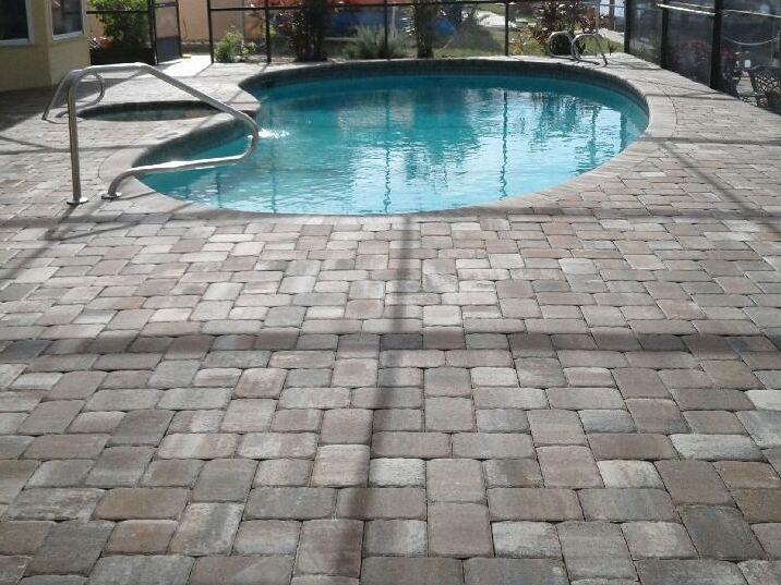 Pavers add a casual elegance to your pool area.