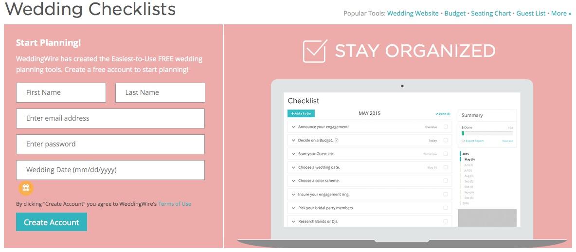 Wedding Wire Checklist is FREE!