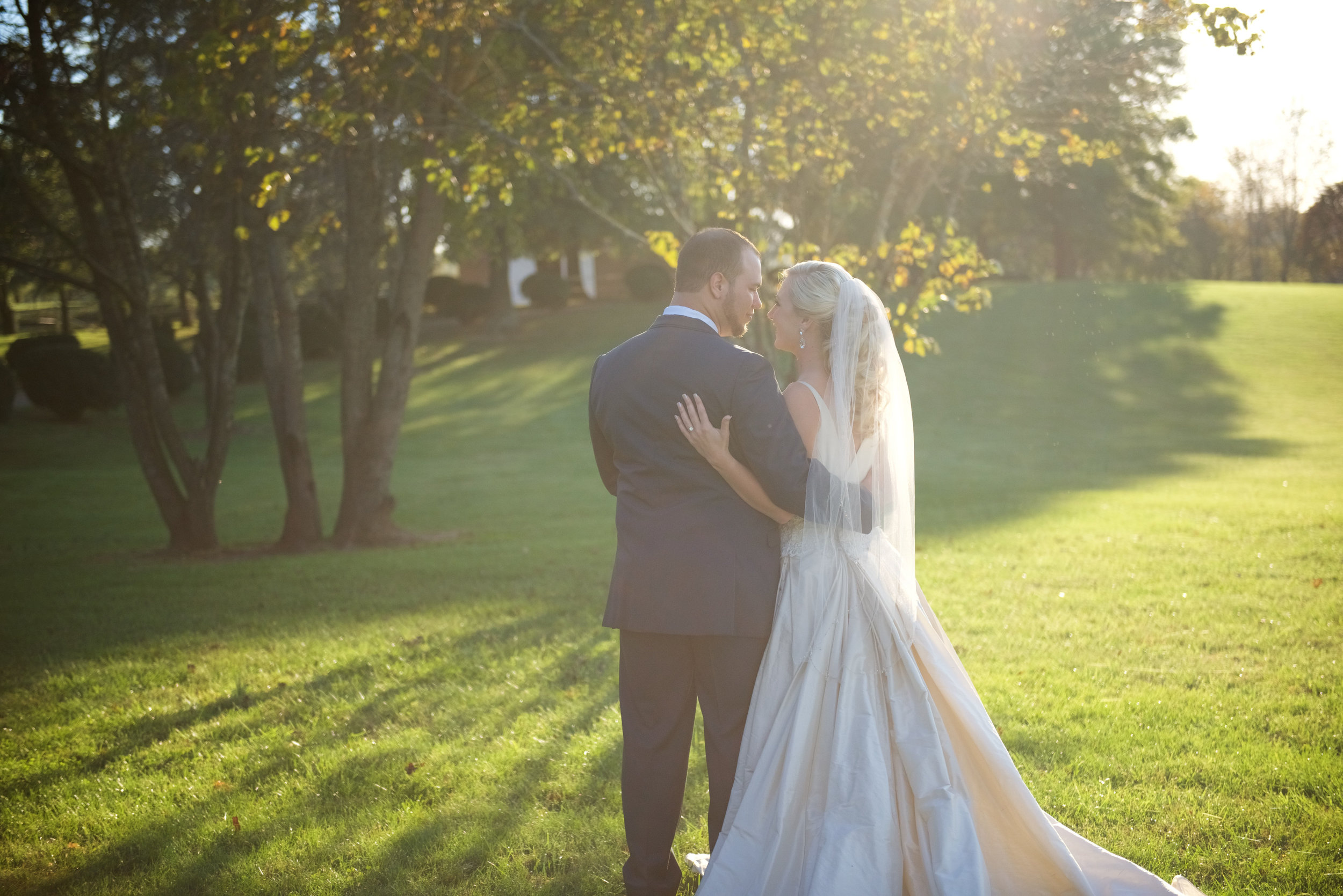 Bride & groom in the golden hour
