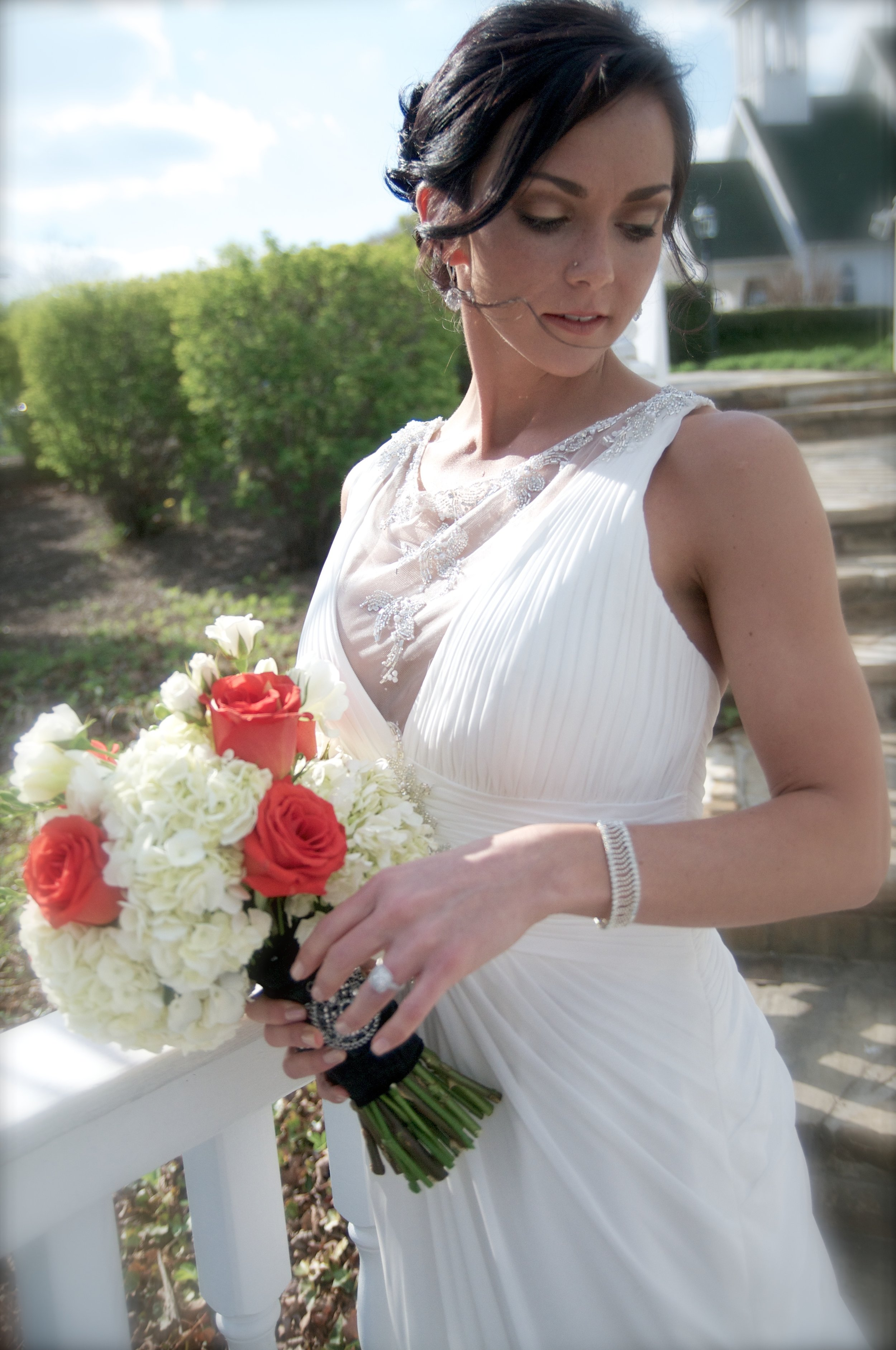 White or almost white dress is a tradition that is still very popular.
