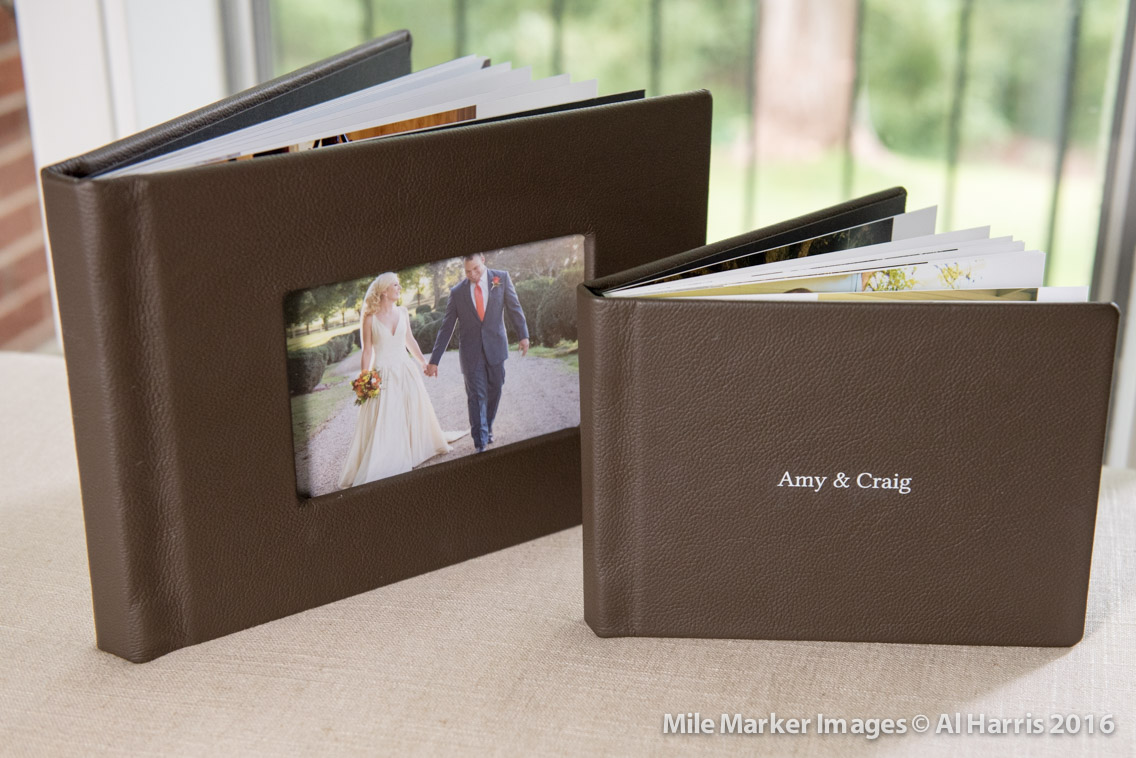 We offer our premium, lay-flat pages with leather cover albums as well as many other styles.