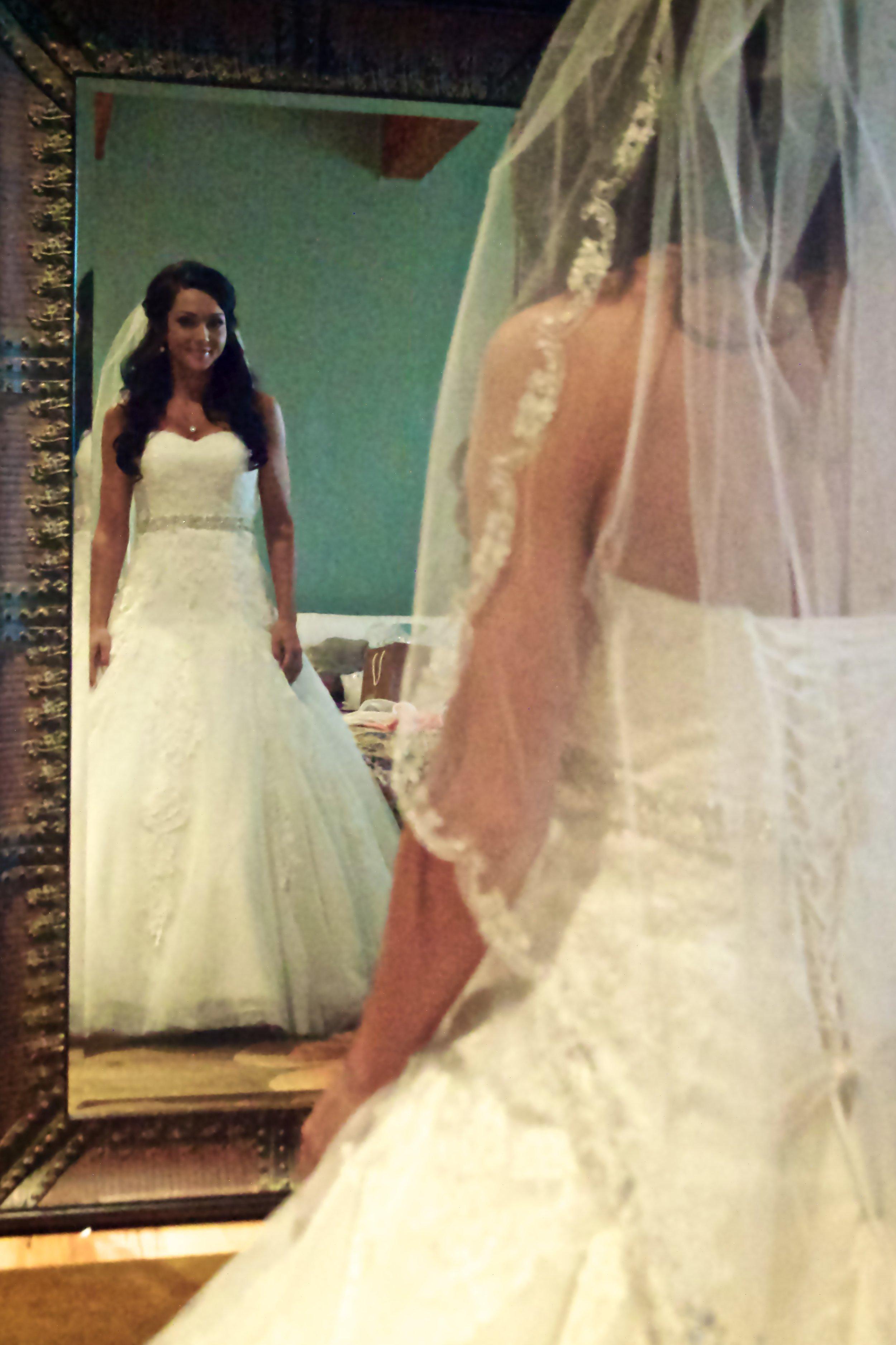 Bride loving her reflection