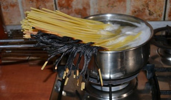 Great pots and pans make great spaghetti too!