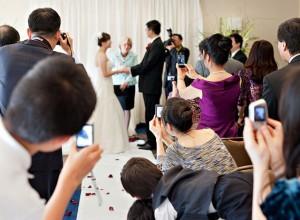 Multiple smart phones ruins a wedding photo