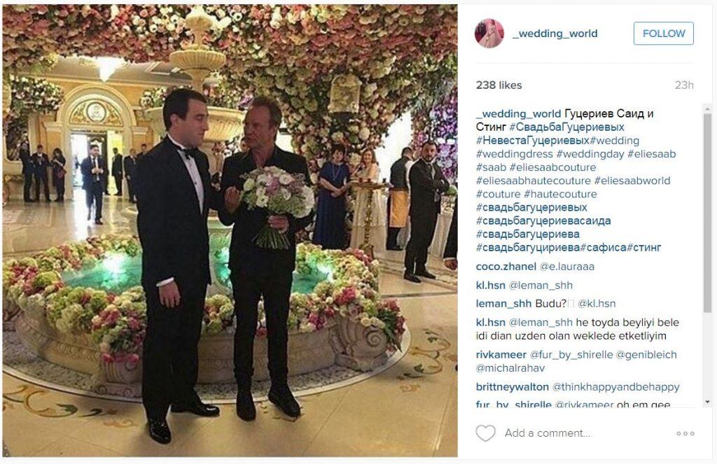 Yep, that's Sting congratulating the groom!