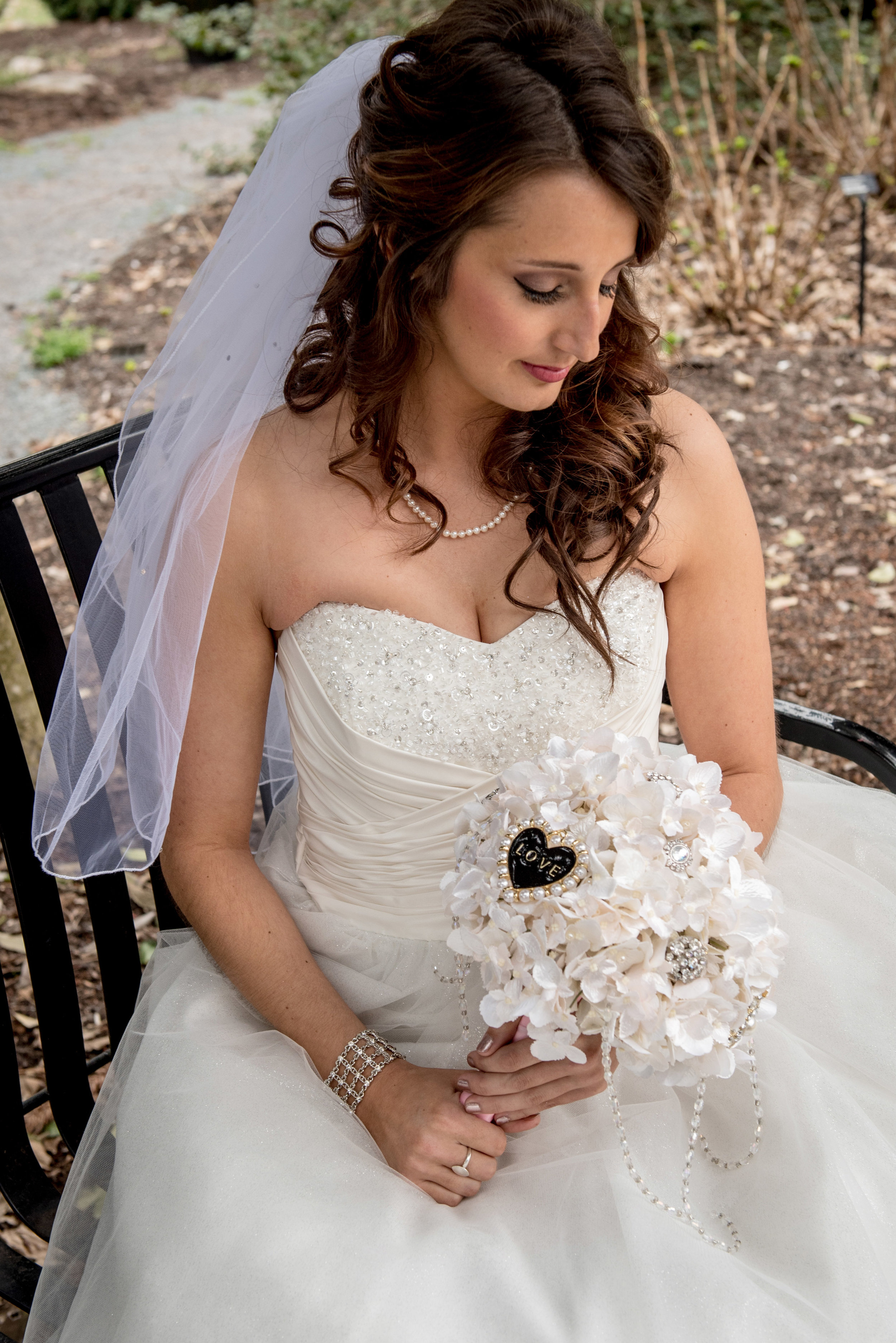"""Jessica a few minutes before """"first look"""" - every little thing was perfect!"""