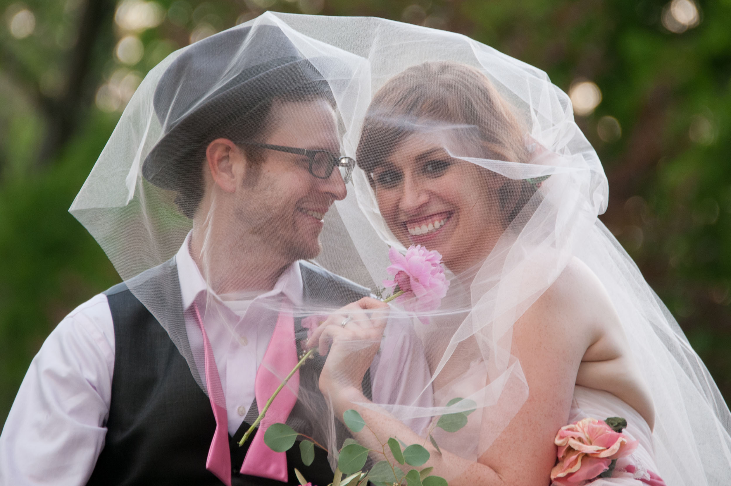 """""""Shared veil"""" is one of my favorites. Ladies, please get a long enough veil for this!"""
