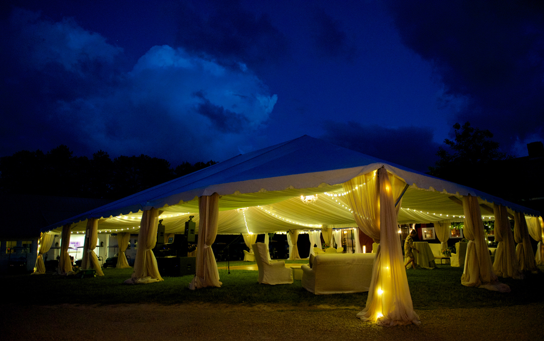 This fairy tale wedding was amazing - even the sky cooperated!