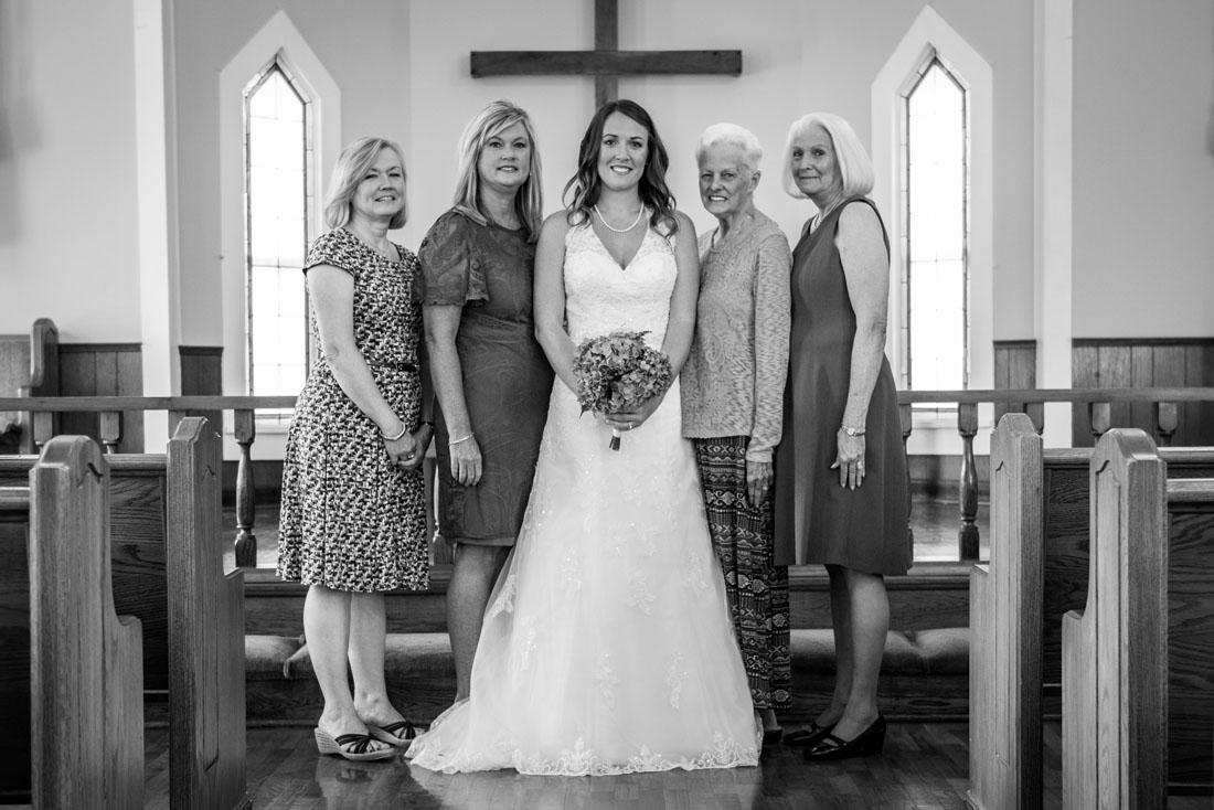 All the ladies - three generations!