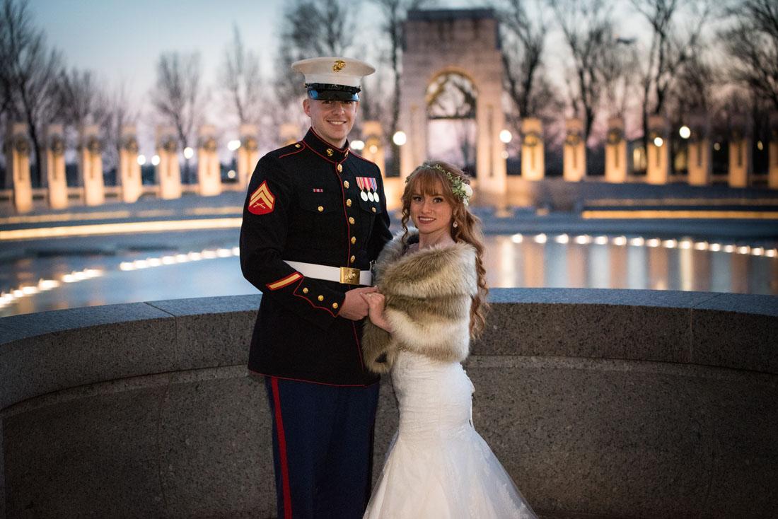 Ben and Dakotah at The WWII Memorial
