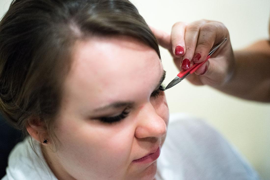 Ashley getting eyelash extensions!