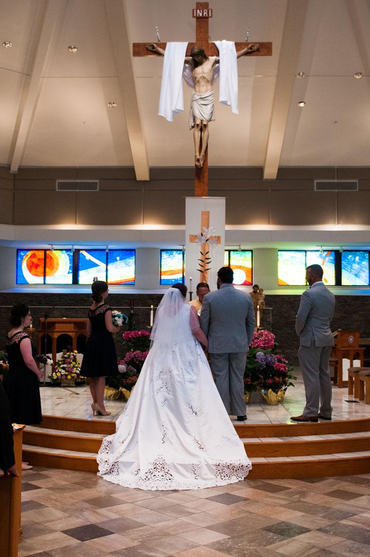 Ashley & Paul at the altar.