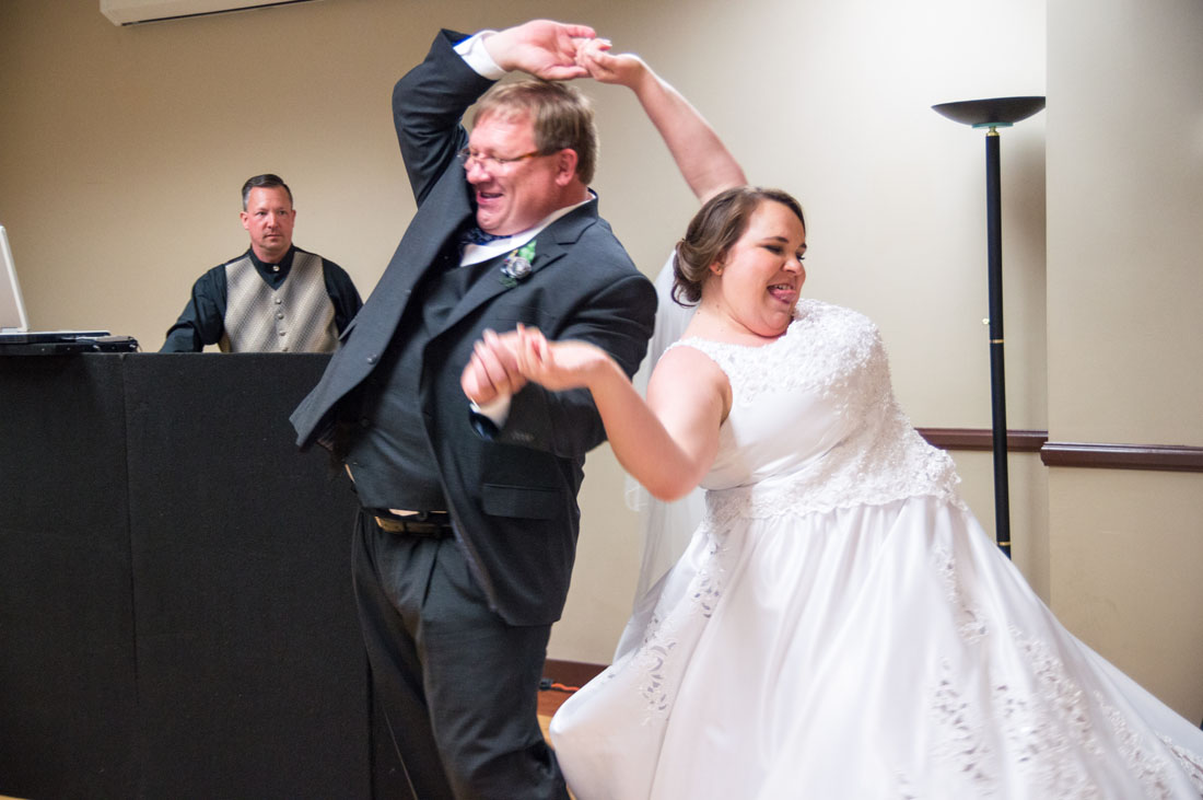 This daddy daughter dance only happens right if you hold your mouth right!