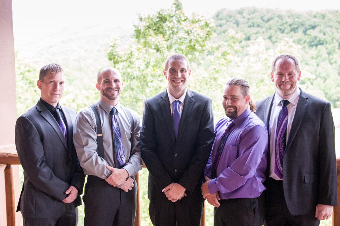 Jeffery and his groomsmen - studs!
