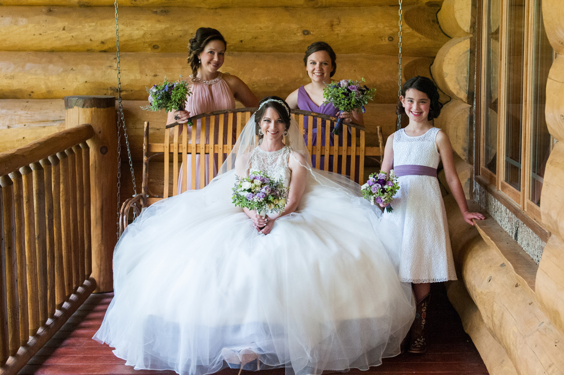 Heather and her bridesmaids.