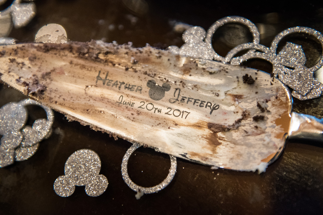 The subtle details of Disney font and tasteful Mickey Mouse bling are what made this wedding amazing. Oh, and a great couple with great families and friends too!